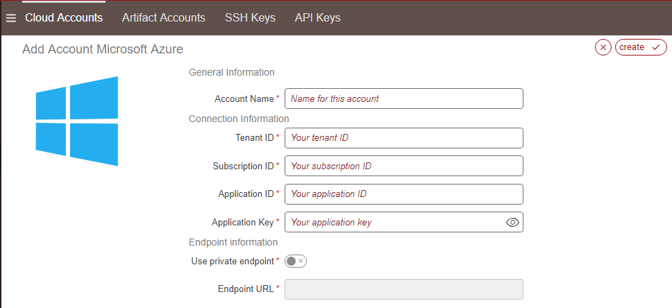 Managing Cloud Accounts — UForge AppCenter User Documentation 3 8